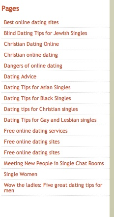 dating tips sidebar
